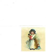 Редкая салфетка декупажная Девочка с куклой