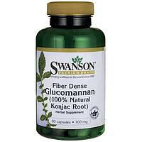 Глюкоманнан корень коньяку, Glucomannan Konjac Root, Swanson, 700мг, 90 капсул,