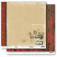 Бумага для скрапбукинга Моменты Библиотека Scrapberry's, 1 шт