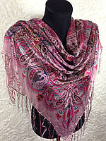 Женский платок с бахромой (1)