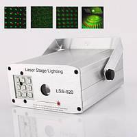 Мини лазерный проектор с LED подсветкой LSS-020