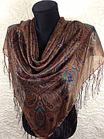 Женский платок с бахромой (2)