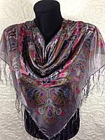 Женский платок с бахромой (3)