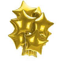 Фонтан  - золотые фольгированные звезды. Гелиевая зыезда Киев. Гелиевые шары Троещина.