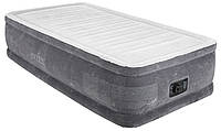 Кровать матрас надувная велюровое со встроеным насосом