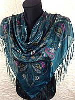 Женский платок с бахромой (4)