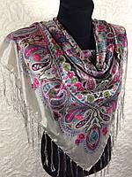 Женский платок с бахромой (5)
