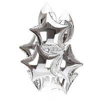Фонтан  - серебрянные  фольгированные звезды