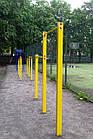 Турник двухуровневый уличный, нагрузка до 250 кг, П-образный, металлический, фото 3