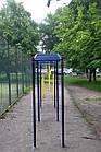 Турник двухуровневый уличный, нагрузка до 250 кг, П-образный, металлический, фото 6