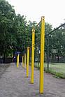 Турник двухуровневый уличный, нагрузка до 250 кг, П-образный, металлический, фото 7