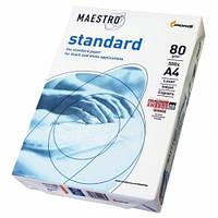Офисная бумага А4 80г/м2 98% 500 лист. Maestro Standard