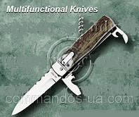 Нож выкидной, копия MIKOV. Рукоятка - рог-оленя