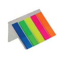 Закладки пластиковые NEON 45x12мм, 5х25л., ассорти BUROMAX BM.2302-98