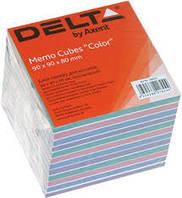 Бумага для заметок цветная COLOR Delta by Axent, 90Х90Х80мм,непроклееная D8025