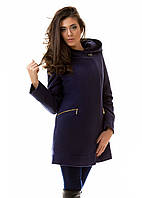 Женское пальто  Силуэт   р. S.M.L синий