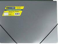 Папка пластиковая,А4 на резинке, JOB,BUROMAX,металик BM.3912-99