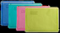 """Папка А4 пластиковая на молнии с расширением """"Buromax"""" BM 3951"""