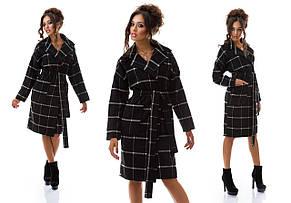 "Пальто ""халат"" клетка, фото 3"