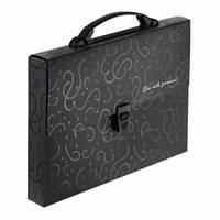 Портфель пластиковый Buromax Red & Black, A4, 35мм, черный BM.3718