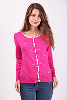 Элегантная женская кофточка в мелкий бантик розового цвета