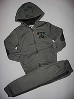 Спорт. костюм для мальчика на флисе Glo-story р.116-128 (9866сер)