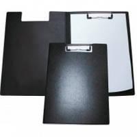 Папка-планшет А4 з прижимом черная, пластик E30153-01