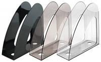 Лоток   для бумаг вертикальный ,24х9х24см, (прозрачный, черный, дымчастый) Delta by Axent,D4014-27