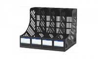 Лоток   для бумаг вертикальный,  черный, на 4 отделения, ECONOMIX,E31902-01