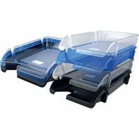 Лоток для бумаги горизонтальный,синий,Delta by Axent,D4000