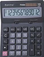 Калькулятор електронный 12 розрядов, 170*122*32мм OPTIMA O75503
