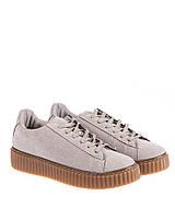Женские серые кроссовки, ботинки криперы, криперсы, Creepers на платформе 37 Vices