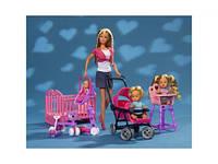 Набор Кукла Штеффи с детьми, коляской и кроваткой SIMBA (СИМБА)