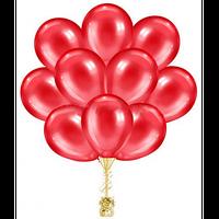 Облако из  гелиевых красных шаров. Красные гелиевые шары. Гелиевые шары Киев.