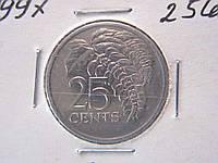 25 центов Тринидад и Тобаго 1997