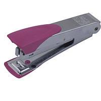 Степлер Buromax (скобы №10), розовый металлический корпус (BM.4153-10)