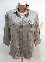 Блузка H&M, 44 (14), LINEN, ОТЛ СОСТ!