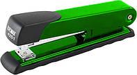 Степлер Buromax (скобы №24; 26), зеленый металлический корпус с пластиковой накладкой (BM.4251-04)