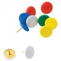 Кнопки цветные с пластиковым покрытием, 100шт. BUROMAX BM.5176