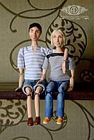 Пара портретных кукол на заказ по фото