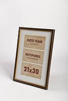 Рамка для фотографий классическая с золотой окантовкой 20х30см., 10F-152