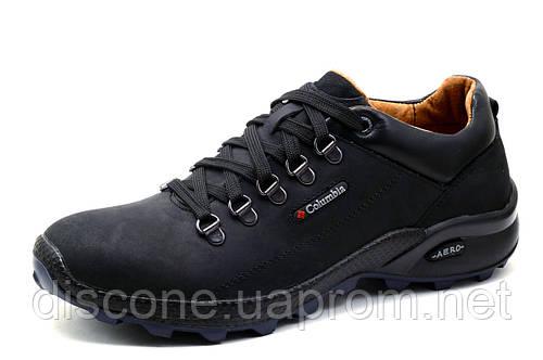 Туфли Columbia AERO, спортивные, мужские, натуральная кожа, черные