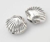 Бусина ракушка серебро п.970