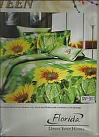Полуторное постельное белье Подсолнухи