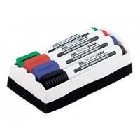 Набор с 4 маркеров и губки для магнитных досок BUROMAX BM.8800-84