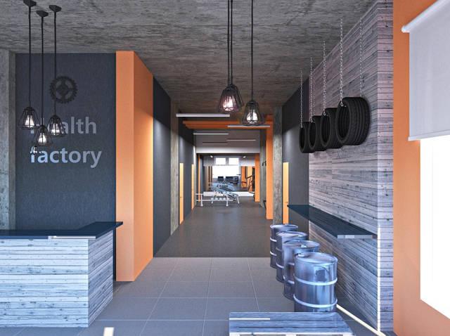 Дизайн интерьера фитнес-клуба Health factory в Одессе 1