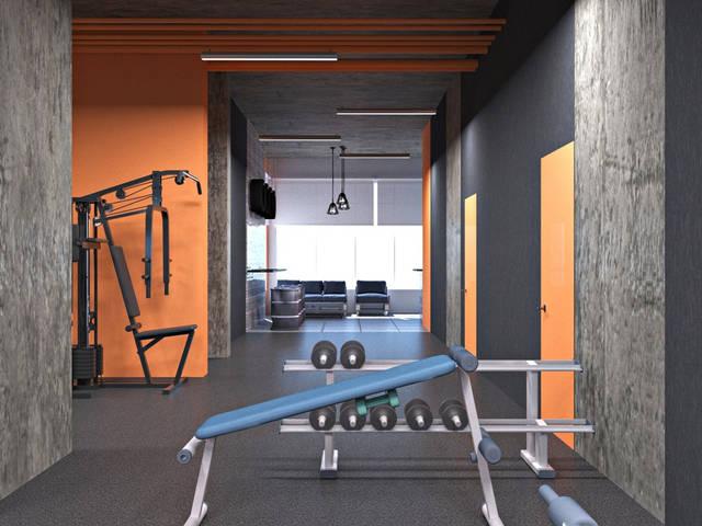 Дизайн интерьера фитнес-клуба Health factory в Одессе 2