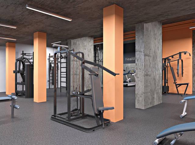 Дизайн интерьера фитнес-клуба Health factory в Одессе 3
