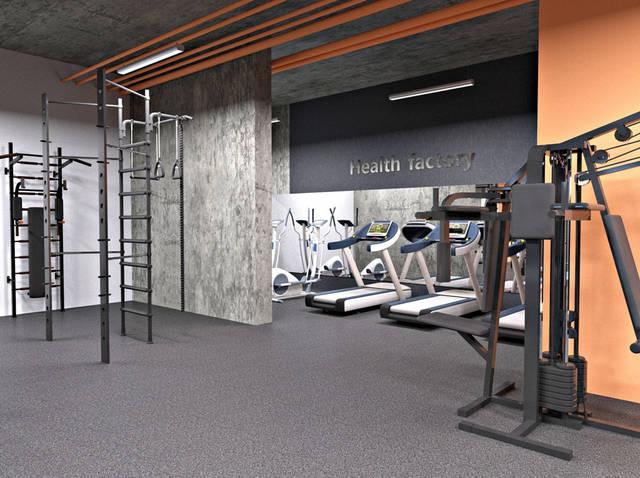 Дизайн интерьера фитнес-клуба Health factory в Одессе 4