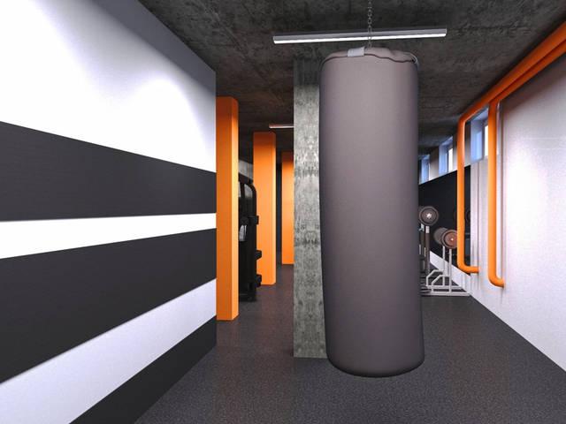 Дизайн интерьера фитнес-клуба Health factory в Одессе 7